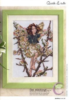 Cross stitch - fairies: Blackthorn fairy - Cicely Mary Barker (free pattern with chart)