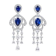 Голубые фишки ❤ liked on Polyvore featuring jewelry, earrings and earring jewelry