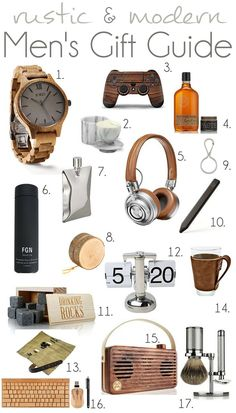 2016 Rustic And Modern Mens Gift Guide