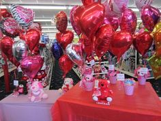 Valentine's Day Balloon Bouquets!(In Store Only) | Wally's Party Factory #Valentines #balloons #bouquets