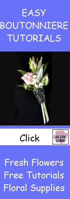 FREE TUTORIALS!  http://www.wedding-flowers-and-reception-ideas.com/make-your-own-wedding.html  Learn how to make bridal bouquets, matching boutonniere and corsages and church decorations.  Wholesale flowers and professional florist supplies!