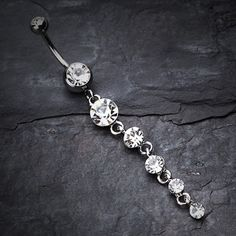 Crystalline Droplets Fall Belly Button Ring when I have my ripped stomach Bellybutton Piercings, Cute Piercings, Tongue Piercings, Cartilage Piercings, Rook Piercing, Ear Gauges, Piercing Ideas, Cute Jewelry, Body Jewelry