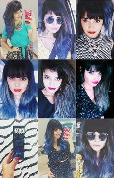 Cabelo Azul : via Tudo Orna | Maior blog de Moda de Curitiba