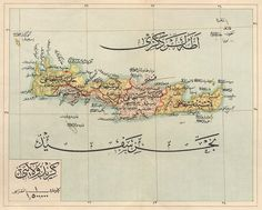 Map of Girit Vilayet (Crete Island), 1905, 1:1.500.000