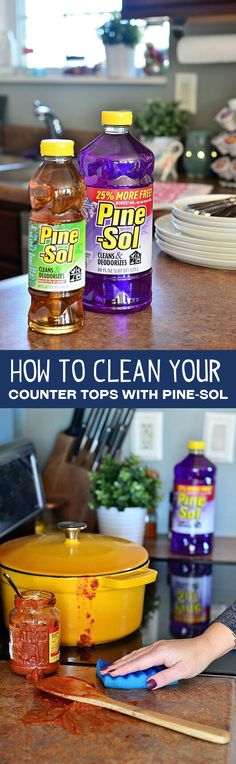 Keep a bottle of Pine-Sol handy in your kitchen for all your multipurpose cleaning needs.