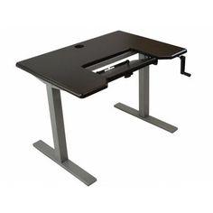 "iMovR Omega Denali Executive Desk Finish: Clove Mahogany / Silver, Size: 49"" H x 48"" W x 30"" D"