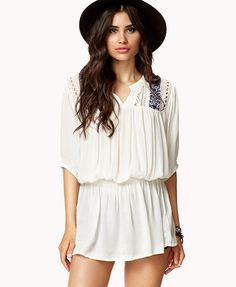 Crocheted Peasant Tunic ~Forever 21 $27.80 http://www.forever21.com/Product/Product.aspx?BR=f21=dress=2060242091=