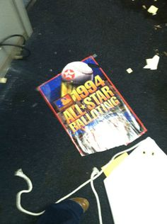 A leftover sign from the 1999 MLB All-Star Game