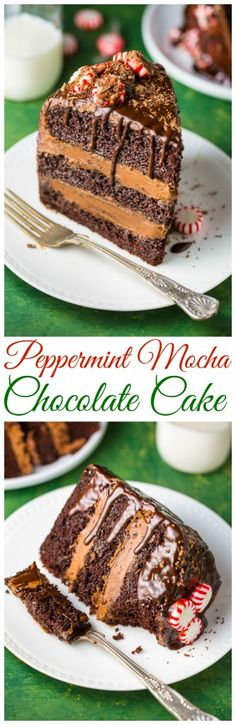 The most INCREDIBLE Peppermint Mocha Chocolate Cake! So impressive yet so easy!