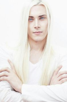 White Hair Male Model