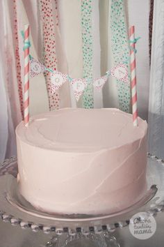 Cute Cake. Vintage Carousel Boy Girl Birthday Party