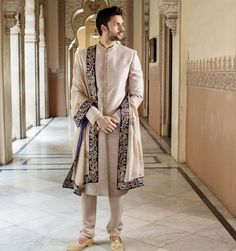 For parties Sherwani For Men Wedding, Wedding Dresses Men Indian, Wedding Outfits For Groom, Groom Wedding Dress, Sherwani Groom, Indian Bridal Outfits, Mens Indian Wear, Indian Men Fashion, Mens Wedding Wear Indian