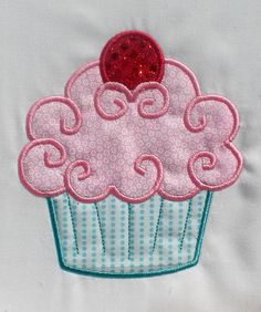 This listing is for a cute Fancy Cupcake Embroidery Design Machine Applique. With your purchase you will receive the applique in 3 sizes: and This design is created to be used on an embroidery machine. Sashiko Embroidery, Machine Embroidery Applique, Applique Patterns, Applique Quilts, Applique Designs, Machine Quilting, Hand Embroidery, Sewing Crafts, Sewing Projects