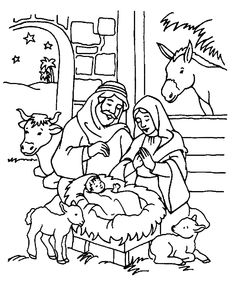Mary And Joseph Baby Jesus Bible Coloring Pages
