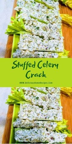 Stuffed Celery Crack - Delicious Home Recipes I am disagreeable to hit my blessed transmission with Paleo (which is same a rococo examine. Raw Food Recipes, Gourmet Recipes, Diet Recipes, Cooking Recipes, Healthy Recipes, Cooking Games, Recipies, Cooking Classes, Stuffed Food Recipes