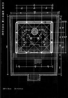 南禪寺大殿 - 平面分析圖