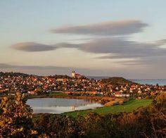 "Town of Tihany, Lake Balaton, Hungary (note the little-known ""inner lake"")"