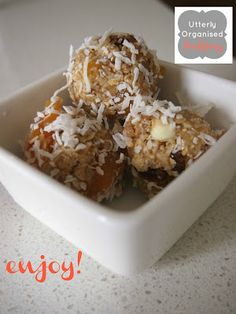 Utterly Organised: Super Yum Honey Muesli Chia Seed Ball Recipe - Thermomix Version Included!