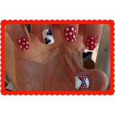 Disney themed nail art