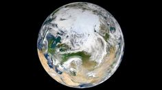 first full image earth seen above north pole