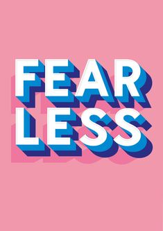 'Fearless' by Rachel Millar is available to buy now. Printed in a limited run on beautiful archival matte heavyweight paper (Hahnemuhle 210GSM). Signed prints available now for £60.  #Illustration #ArtPrints #HomeDecor #InteriorDesign #Art #Design #HandLettering #Typography