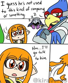 Super Smash Bros Memes, Nintendo Super Smash Bros, Splatoon Memes, Splatoon Comics, Video Games Funny, Funny Games, Vido Games, Mario Comics, Innocent Love