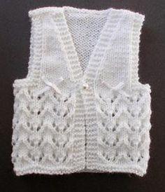 Lace Knit Baby Vest....free pattern