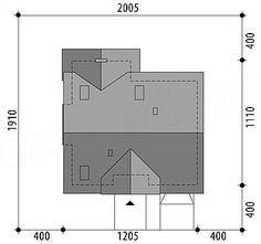 Projekt domu Telimena 110,7 m2 - koszt budowy 219 tys. zł - EXTRADOM