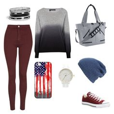 """""""Chill Autumn"""" by stina999 on Polyvore featuring Topshop, 360 Sweater, Converse, NIKE, GUESS, Nixon, Phase 3 and Casetify"""