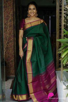 Sari Blouse, Kerala Saree Blouse Designs, Wedding Saree Blouse Designs, Half Saree Designs, Sari Dress, Dress Designs, Kerala Wedding Saree, Bridal Sarees South Indian, Indian Silk Sarees