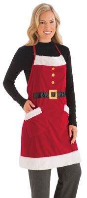 Santa Kitchen Apron - A Christmas MUST-Have especially if you like to bake during the Holidays!