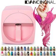 Quality digital nail art printer machine with free worldwide shipping on AliExpress Swag Nails, Fun Nails, Nail Manicure, Nail Polish, Nail Art Machine, Nail Art Printer, 3d Mobile, Mobile Nails, Free Shipping Makeup