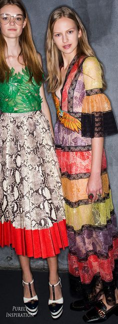 ✈️ BFF's Holiday!! {traveling with a group of girlfriends!! where to go? what to do? any ideas? shopping? spa? dance club? so, who to invite? hope you make the cut!! $$$$$ spare no expense!! only the best for our BFF's!!} ✈️ Poppy Pea & BFF's Gucci SS2016 Women's Fashion RTW (backstage) | Purely Inspiration