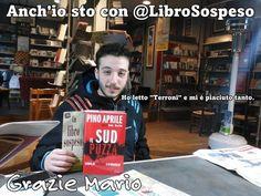 """""""Ho letto #Terroni ora voglio #Sud """" con questeparole Mario si avvicina a @LibroSospeso"""
