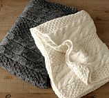 Chunky Cable Knit Oversized Throw. Doesn't have to be from Pottery Barn, just want a big chunky sweater blanket!