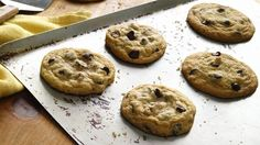 GF Choc chip recipes...turned out perfect with Bob's GF flour blend! (used 1t. of xanthan gum and cornstarch/water for egg sub)