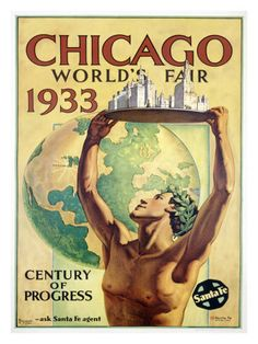 World's Fair, Chicago, c.1933  My parents were there..their yesterday was once their tomorrow!