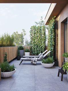 Fully inspiring ideas for modern garden design for your inspiration . Mediterranean Garden Design, Modern Garden Design, Backyard Garden Design, Landscape Design, Back Gardens, Outdoor Gardens, Indoor Outdoor, Outdoor Decor, Modern Landscaping