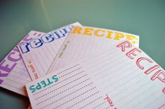 Cute little recipe cards for my new-found/Pinterest-inspired love for baking:)