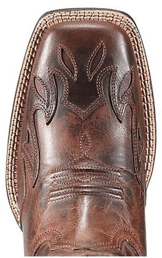 Ariat® Sidekick™ Women's Sassy Brown w/ Red Embroidery Square Toe Western Boot   Cavender's