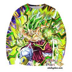 e48534de Dragon Ball Z Sweatshirt - Super Evolution of Despair Super Saiyan 3 Broly
