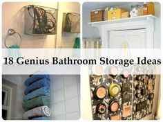 18 Amazing Bathroom Storage Ideas - Find Fun Art Projects to Do at Home and Arts and Crafts Ideas | Find Fun Art Projects to Do at Home and Arts and Crafts Ideas