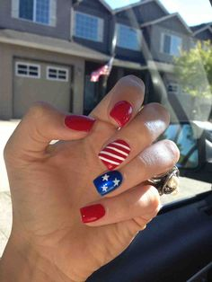 simple 4th of July nail idea