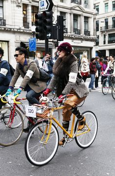Girl on bike: The stylist Karina Tanabe Jones, London,
