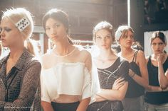 The doe-eyed look of Model Leaf Zhang ss15 Honor, Backstage, Grace Anderson, Leaf Zhang, Yulia Musieichuk