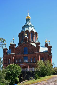 Uspenski Orthodox Churst in Helsinki, Finland by Aili Alaiso Helsinki, Four Seasons, Finland, Mansions, House Styles, Places, Inspiration, Paint, Beautiful