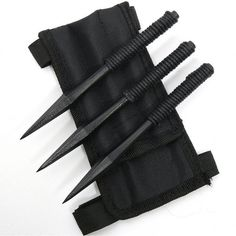 My weapons are throwing spikes since I have very good aim. The spikes are a made out of some weird metal, it's the only type that can really hurt my since I'm basically already dead. It's also the only thing that can get rid of any dead that's been summon Cool Knives, Knives And Tools, Knives And Swords, Throwing Spikes, Ninja Gear, Armas Ninja, Knife Throwing, Survival Weapons, Self Defense Weapons
