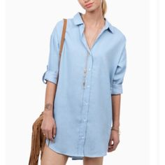 Tobi button down shirt dress shift dress. Worn twice. I'm 5'5 Tobi Dresses