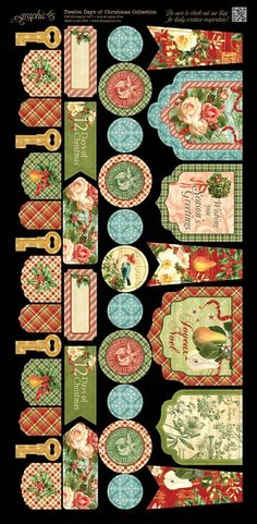 Twelve Days of Christmas Cardstock Banners 2 #graphic45 #newcollection #sneakpeeks