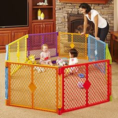 North States Superyard Colorplay 8 Panel Playard from North States. SAFE & ENGAGING PLAY AREA - ANYWHERE! The North States Superyard Colorplay is an excellent solution for creating a safe playpen for your child, both indoors or outside. Toddler Play Yard, Baby Play Yard, Baby Gate Play Area, Infant Play, Baby Play Areas, Toddler Preschool, Outdoor Play, Indoor Outdoor, Baby Playpen